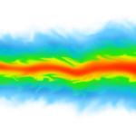Fluid dynamics / mechanics simulation CGI imagery on white background