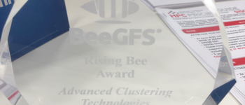 ACT Receives BeeGFS Rising Bee Award at SC18